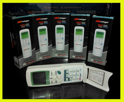control remoto universal aire acondicionado minisplit mirage