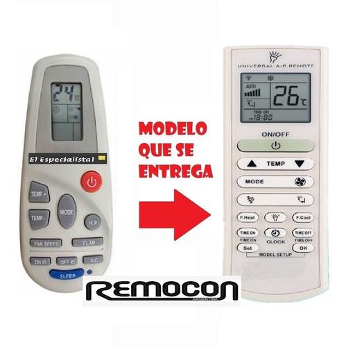 control remoto universal para aire acondicionado electrolux