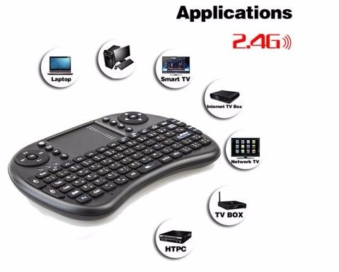control remoto wifi wireless android tv box mouse qwerty