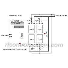 control remoto y receptor de 4 canales reles