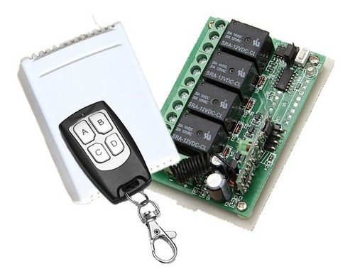 control remoto y relé receptor inalámbrico multiusos 4 reles