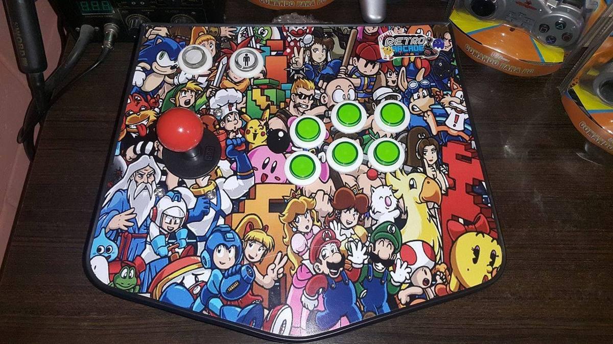 Control Retro Arcade 1 Player 22 Mil Juegos Mame Sega Atari