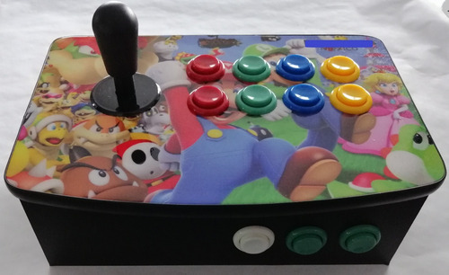 control tablero arcade inalámbrico ps3 pc raspberry pi