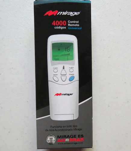 control universal para aire acondicionado mirage