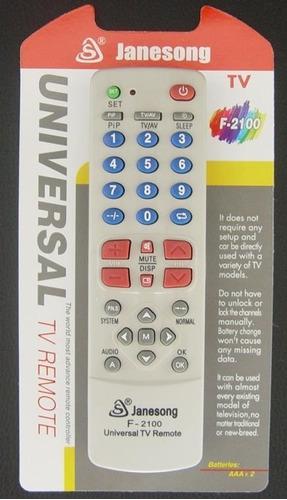 control universal tv f-2100