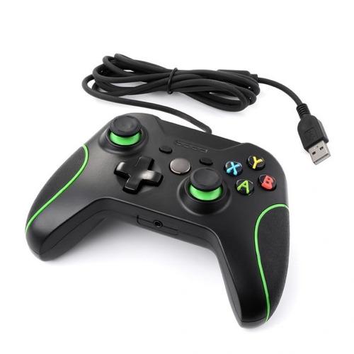 control usb generico compatible xbox one pc alambrico negro
