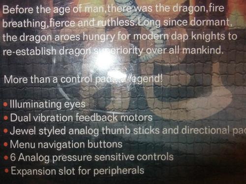 control usb para pc con figura de dragon