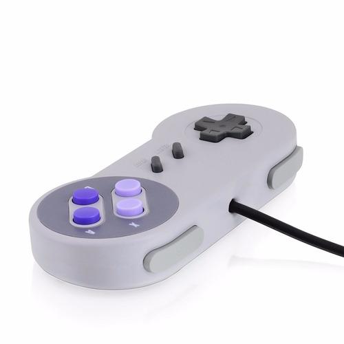 control usb super nintendo joystick pc nuevo stock snes gris