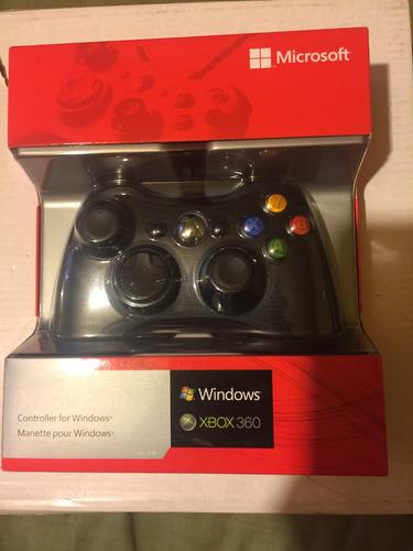 control xbox 360 alambrico compatible con pc.