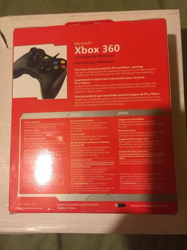 control xbox 360 alambrico con
