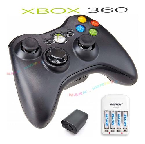 control xbox 360 de segunda+ porta pilas+pilas beston+carga