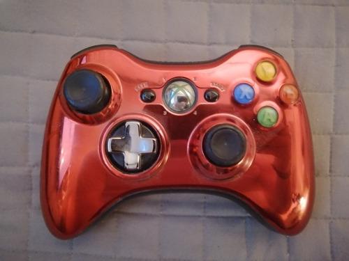control xbox 360 inalámbrico cromado rojo