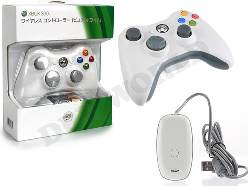 control xbox 360 para pc inalambrico usb + receptor wireless