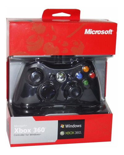 control xbox 360 y pc alambrico