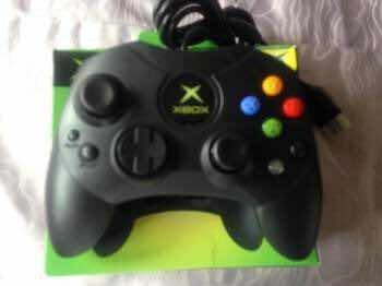 control xbox clásico negro