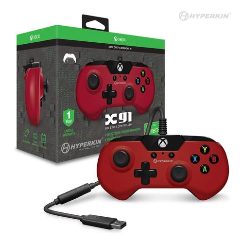 control xbox one rojo original hyperkin x91 envio gratis