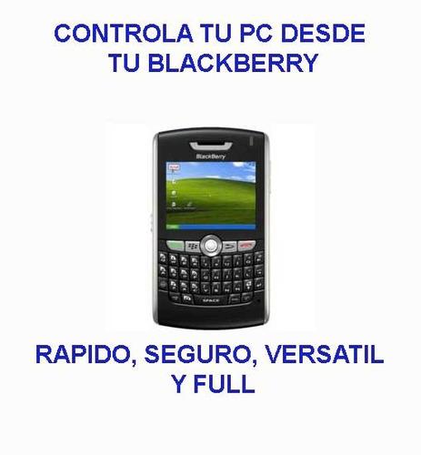controla tu pc desde el blackberry desde cualquier parte