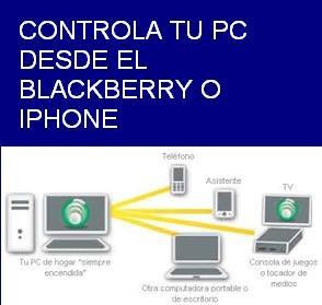 controla tu pc o mac desde blackberry o iphone envio gratis
