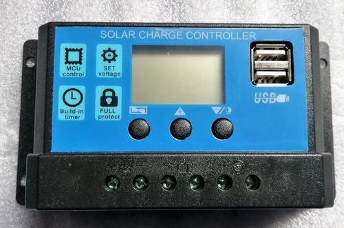 controlador 10a regulador carga kit planta panel solar 12v24