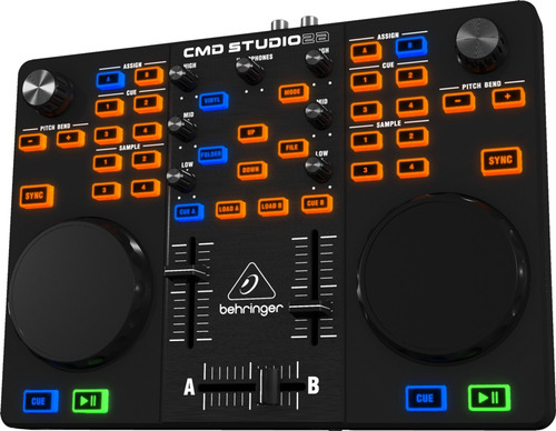 controlador behringer cmd studio 2a usb virtual dj mixer pro