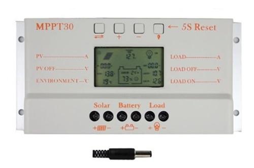 controlador carga paineis solares regulador 30a mppt t30