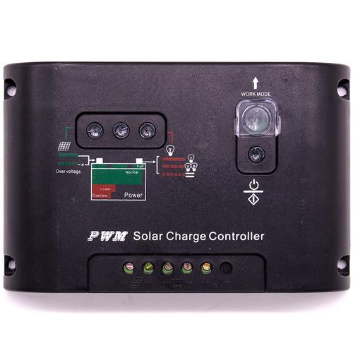 controlador carga painel solar 20a 12e24v pwm lcd regulador