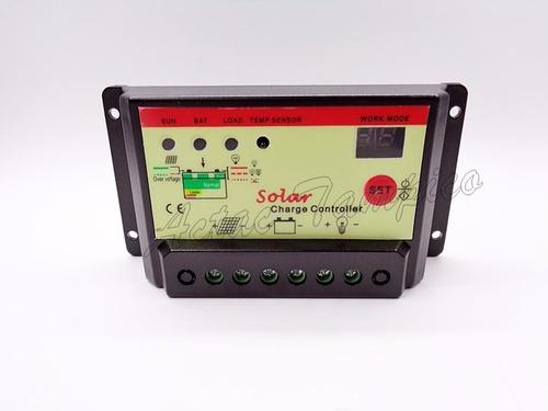 controlador carga solar 10a 12/24v temporizador celda pwm