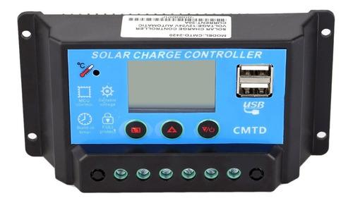 controlador d carga panel solar 20a 12 -24 vdc lcd usb + mc4