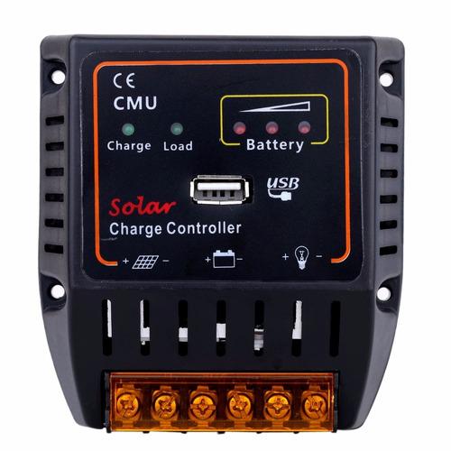 controlador de carga 10a para 12 -24 vdc puerto usb