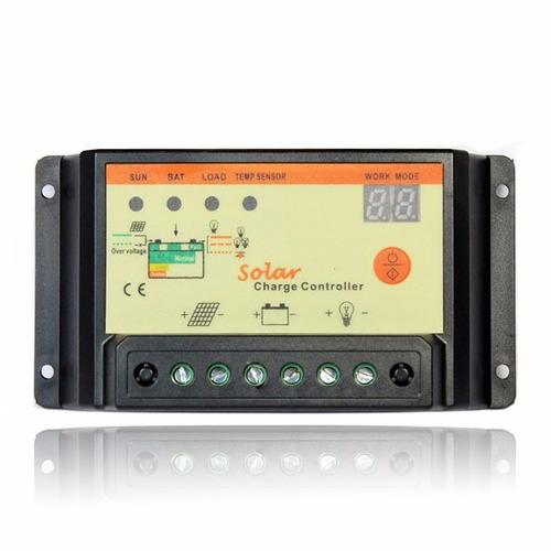 controlador de carga 20a con temporizador, paneles solares