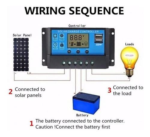 controlador de carga painel 20a  12/24v pwm barato