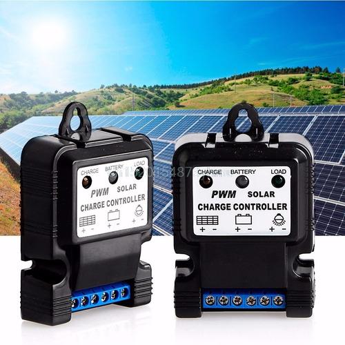 controlador de carga pwm solar led 10a 12v compacto