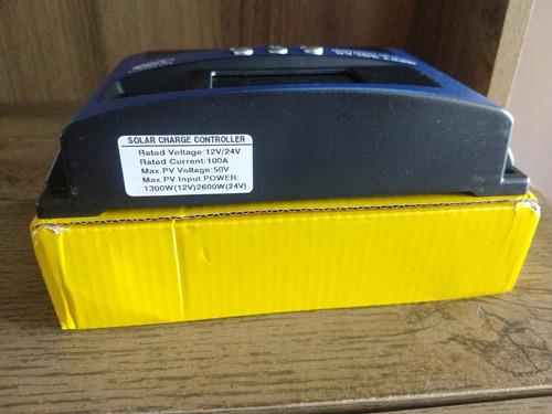controlador de carga solar 100a mppt usb display lcd