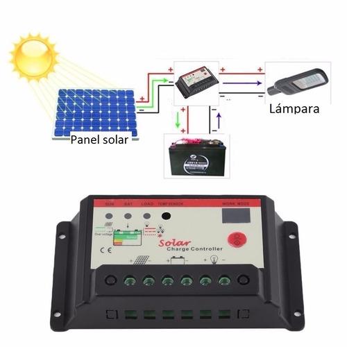 controlador de carga solar 20 amps 12/24 volt