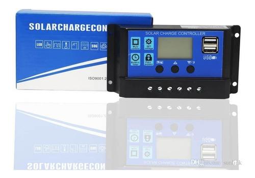 controlador de carga solar 30a lcd usb regulador automatico*