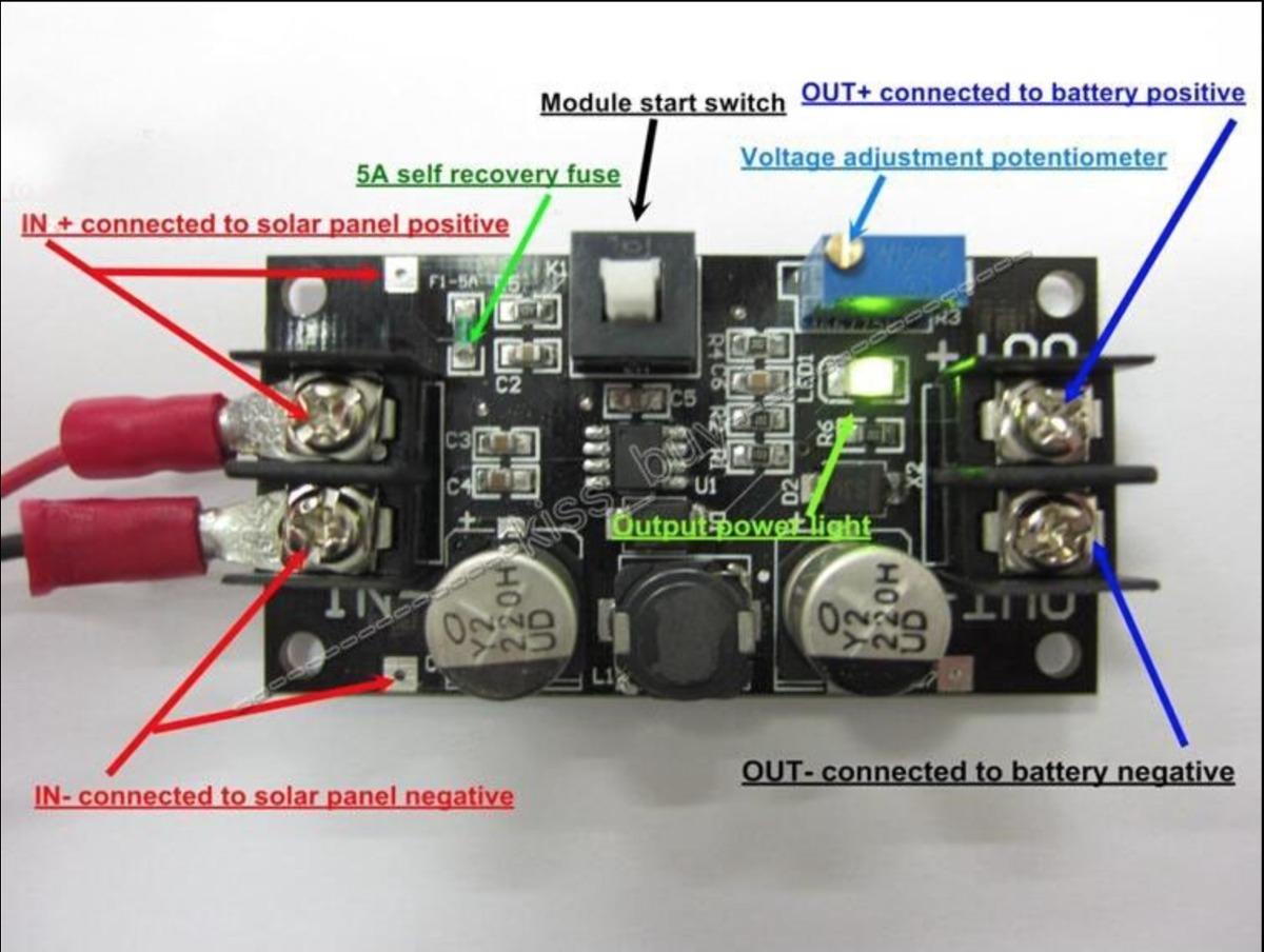 Controlador De Carga Solar M 243 Dulo Ajust 225 Vel 3 7v 6v 12v