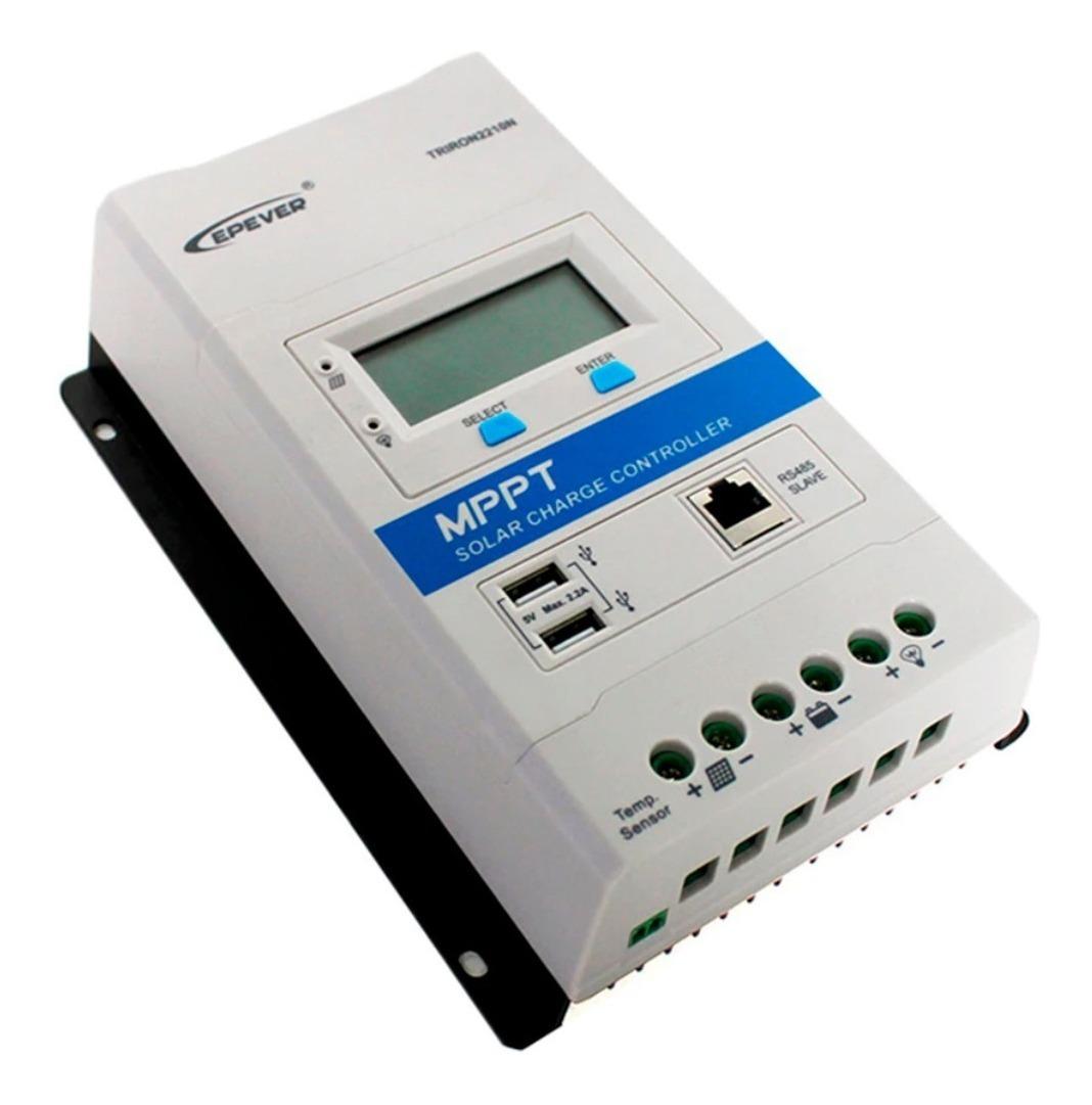 Controlador De Carga Solar Mppt 30a Epever Triron 3210n