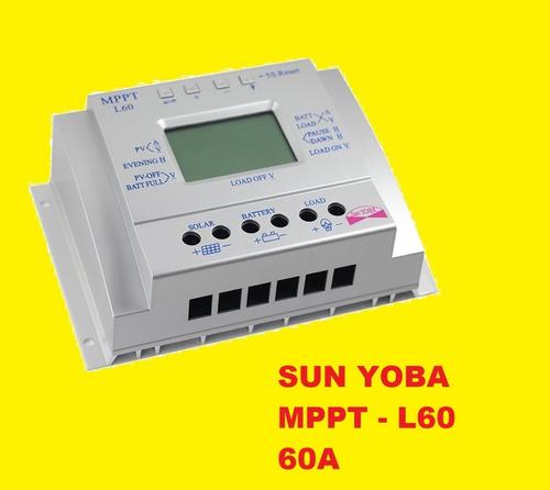 controlador de carga solar mppt  60a off grid sun yoba