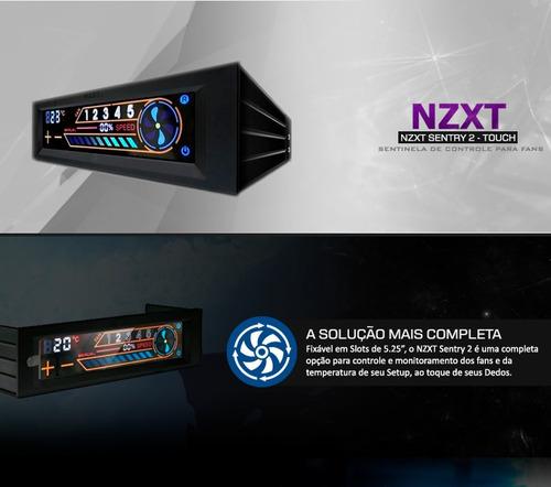 controlador de fan nzxt sentry 2 touchscreen, super promoção