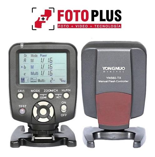 controlador de flashes yongnuo yn560-tx nikon canon fotoplus