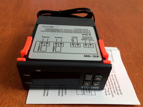 controlador de temperatura digital 110v  sct-1000 2 relay