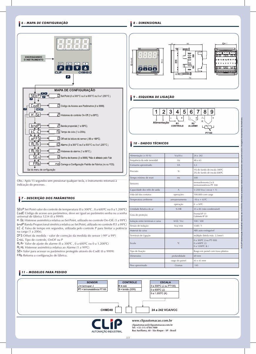 99742e4189086 controlador de temperatura digital com alarme 48 x 48mm. Carregando zoom.