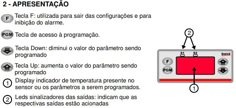 12b9a3c8e118d Controlador De Temperatura Inova Inv 46101 J - R  205