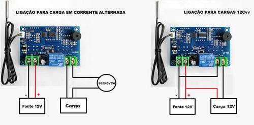 controlador de temperatura ( termostato digital  -9 à 99 )