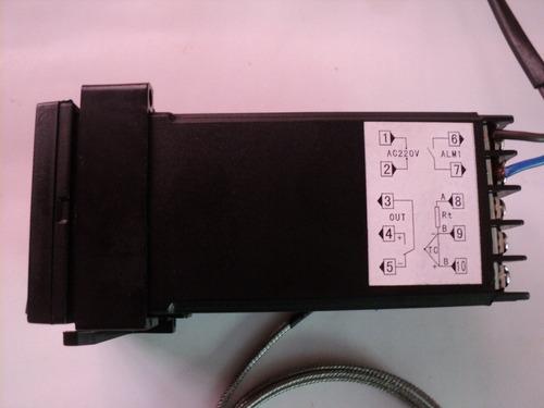 controlador de temperatura y sonda termocupla
