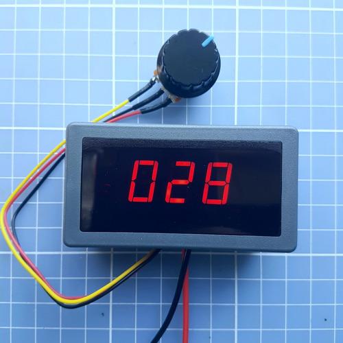 controlador de velocidade pwm com display 6-30v 5a