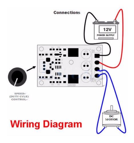 controlador de velocidade pwm motor dc 6v 12v 24v 28v 3a