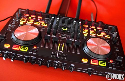 controlador denon dj mc 6000 mk2 mixer serato usb midi gtia