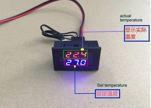 controlador digital de temperatura termostato incubadora 12v