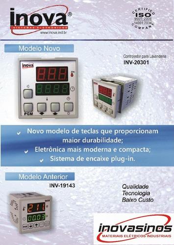 controlador digital tempo temperatura p/ lavanderias inv1943
